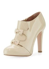 RED Valentino Patent Double-Bow 100mm Bootie