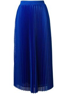 RED Valentino perforated pleated midi skirt