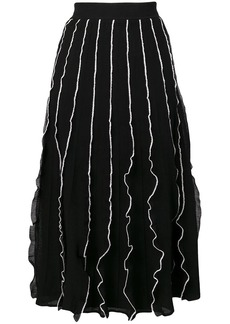 RED Valentino pleated A-line skirt