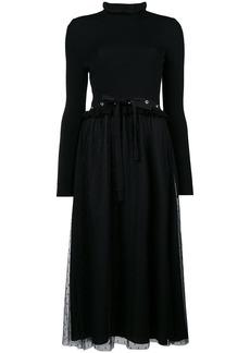 Red Valentino plumetti midi dress - Black