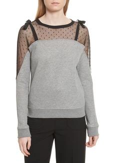 RED Valentino Point D'esprit Sweatshirt