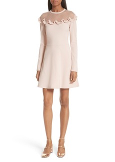 RED Valentino Point d'Esprit Yoke Dress