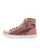 RED Valentino Polka-Dot Sequined High-Top Sneaker