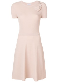 Red Valentino ribbed knit A-line dress - Nude & Neutrals
