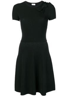 Red Valentino ribbed knit short dress - Black