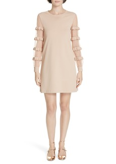 RED Valentino Ruffle Point d'Esprit Sweater Dress