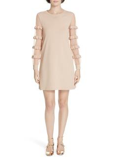 RED Valentino Ruffle Point d'Esprit Sweater Dress