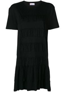 Red Valentino ruffle trim T-shirt dress - Black