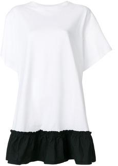 Red Valentino ruffled hem T-shirt dress - White
