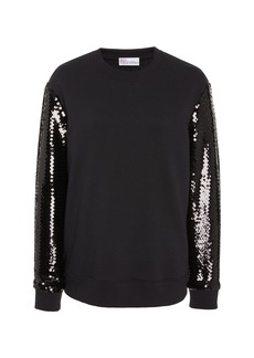 Red Valentino Sequin-Embellished Knit Sweater