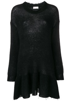 Red Valentino sheer knit sweater dress - Black