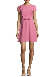 RED Valentino Short-Sleeve Ruffle-Front A-Line Dress