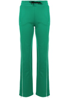 Red Valentino side stripe tracksuit bottoms - Green