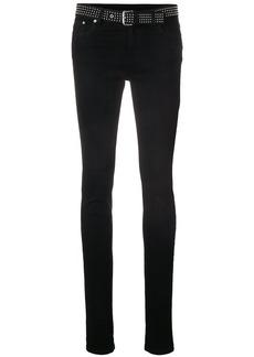 Red Valentino skinny studded belt jeans - Black