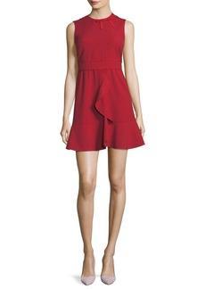 RED Valentino Sleeveless Cady Dress w/ Ruffle & Bow Details