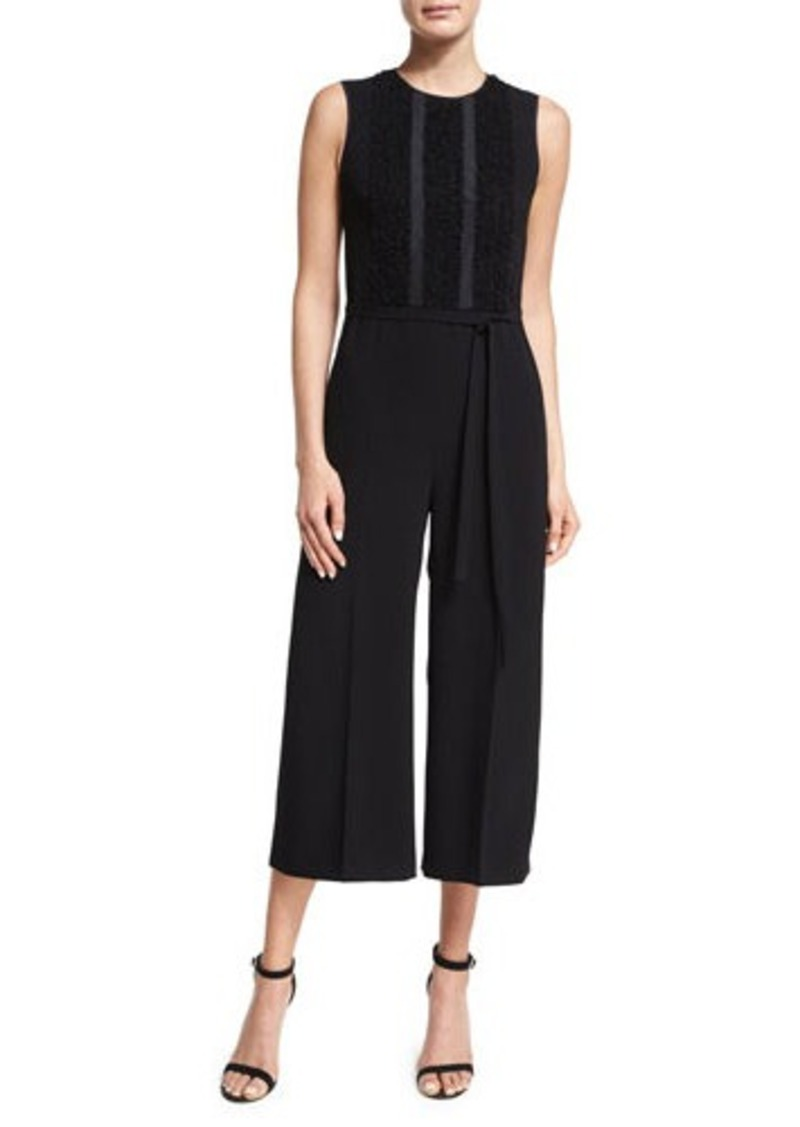 7e586b9b43 RED Valentino RED Valentino Sleeveless Cropped Wide-Leg Jumpsuit ...