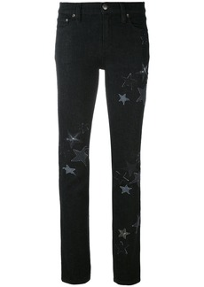 Red Valentino star embroidered jeans - Black
