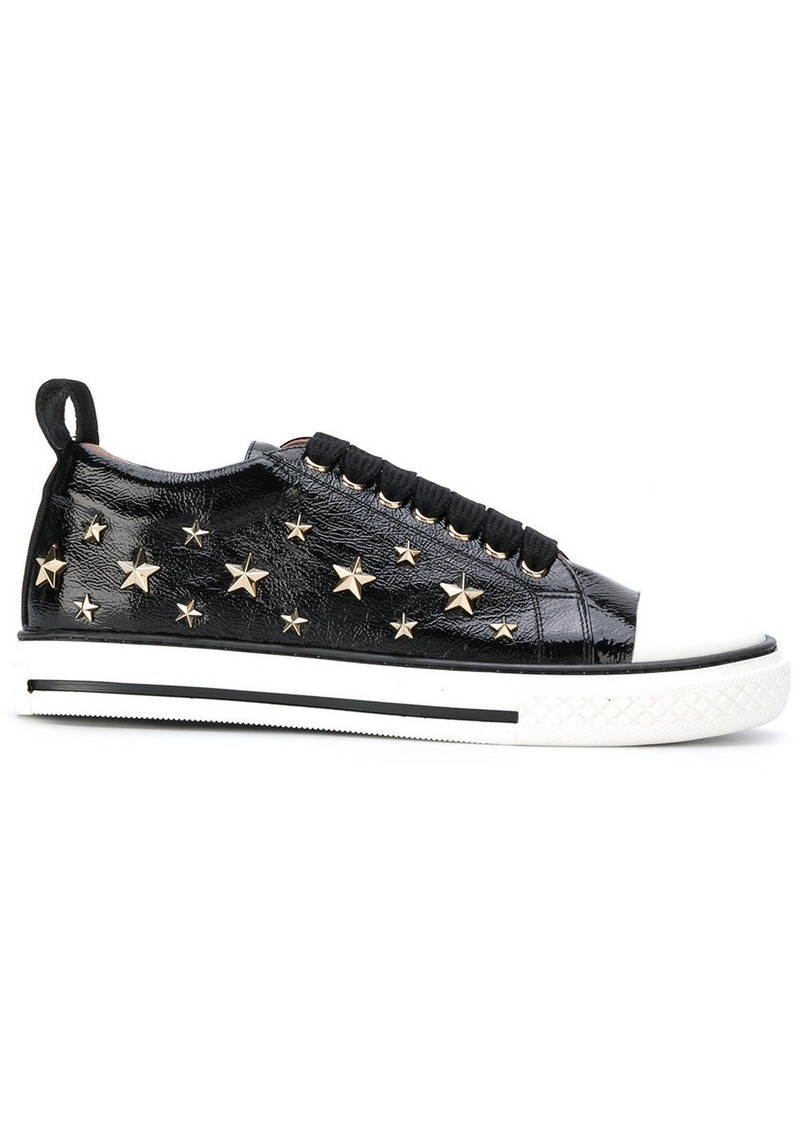 fa070cd9e58 RED Valentino Red Valentino star studded lace-up sneakers - Black ...
