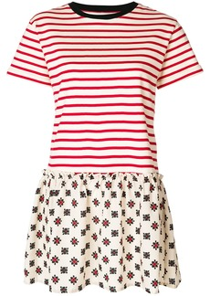 Red Valentino striped jersey dress - Nude & Neutrals