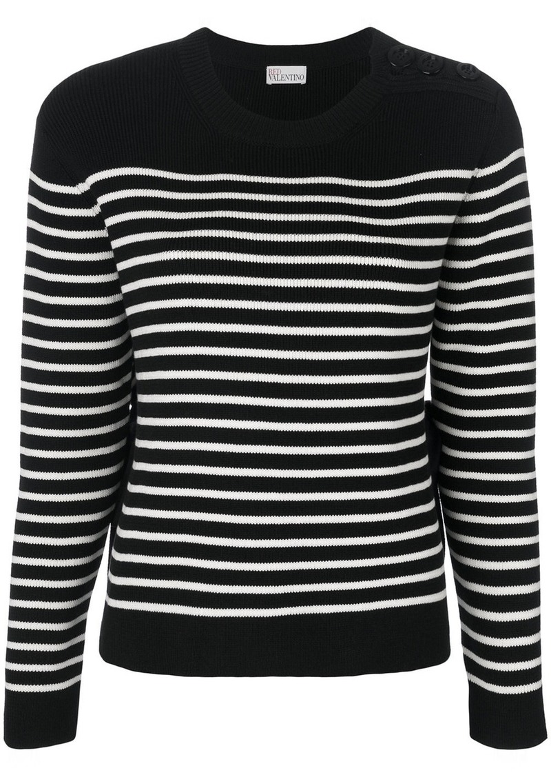 RED Valentino striped jumper  34879c0c3
