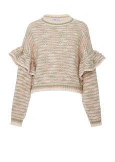 Red Valentino Striped Knit Sweater