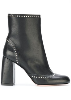 Red Valentino studded chunky heel boots - Black