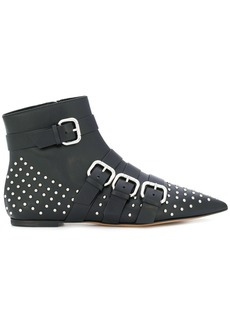 Red Valentino studded pointed toe boots - Black
