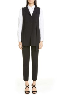 RED Valentino Tie Neck Double Breasted Vest