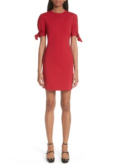 RED Valentino Tie Sleeve Sheath Dress