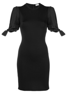 Red Valentino tied sleeves fitted dress - Black