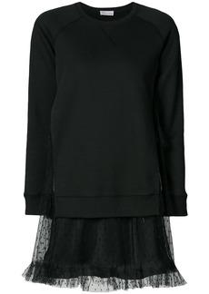 Red Valentino tulle layered sweatdress - Black