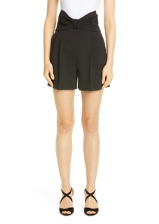RED Valentino Tuxedo Bow High Waist Shorts