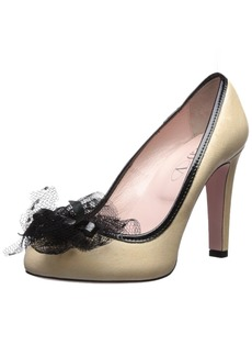 Red Valentino Women's Pump with Tulle Accent  3 M EU/ M US