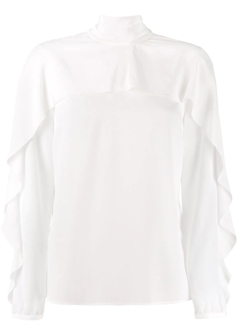 RED Valentino RED(V) back-tie frill detail blouse