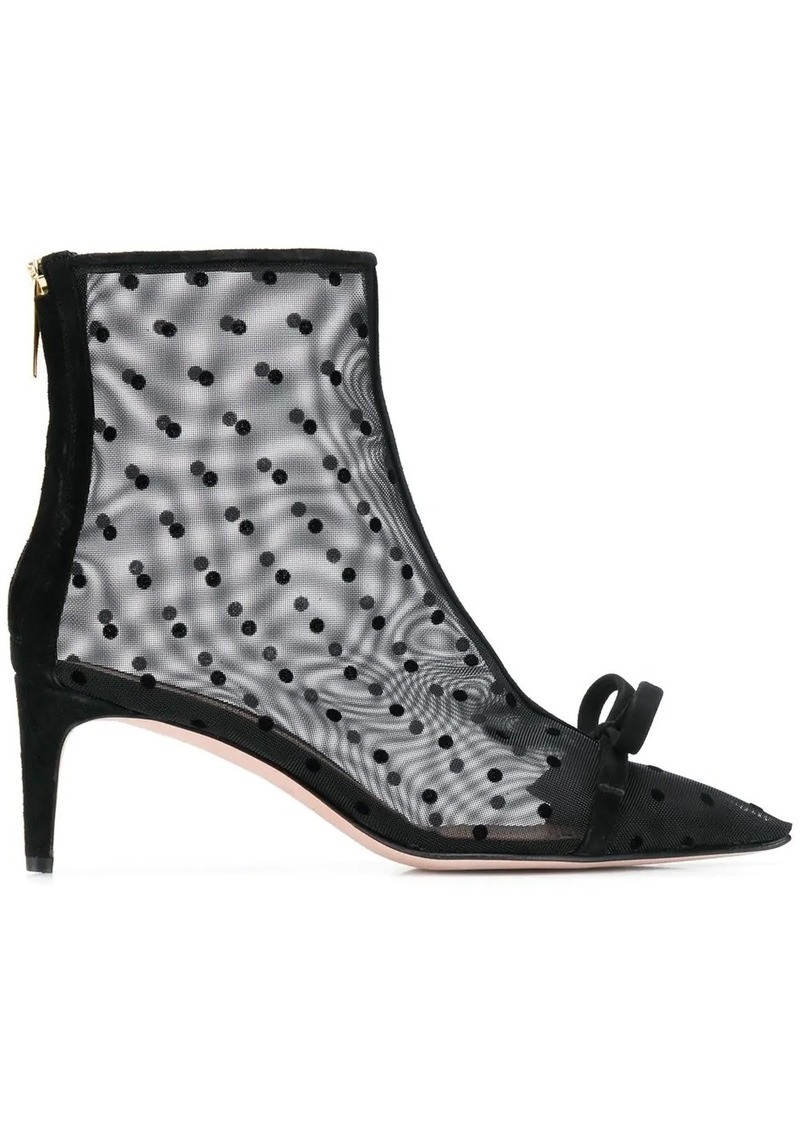 RED Valentino RED(V) bow detail boots