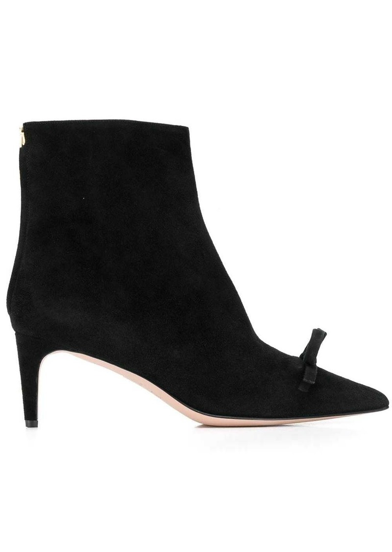 RED Valentino RED(V) bow ribbon booties