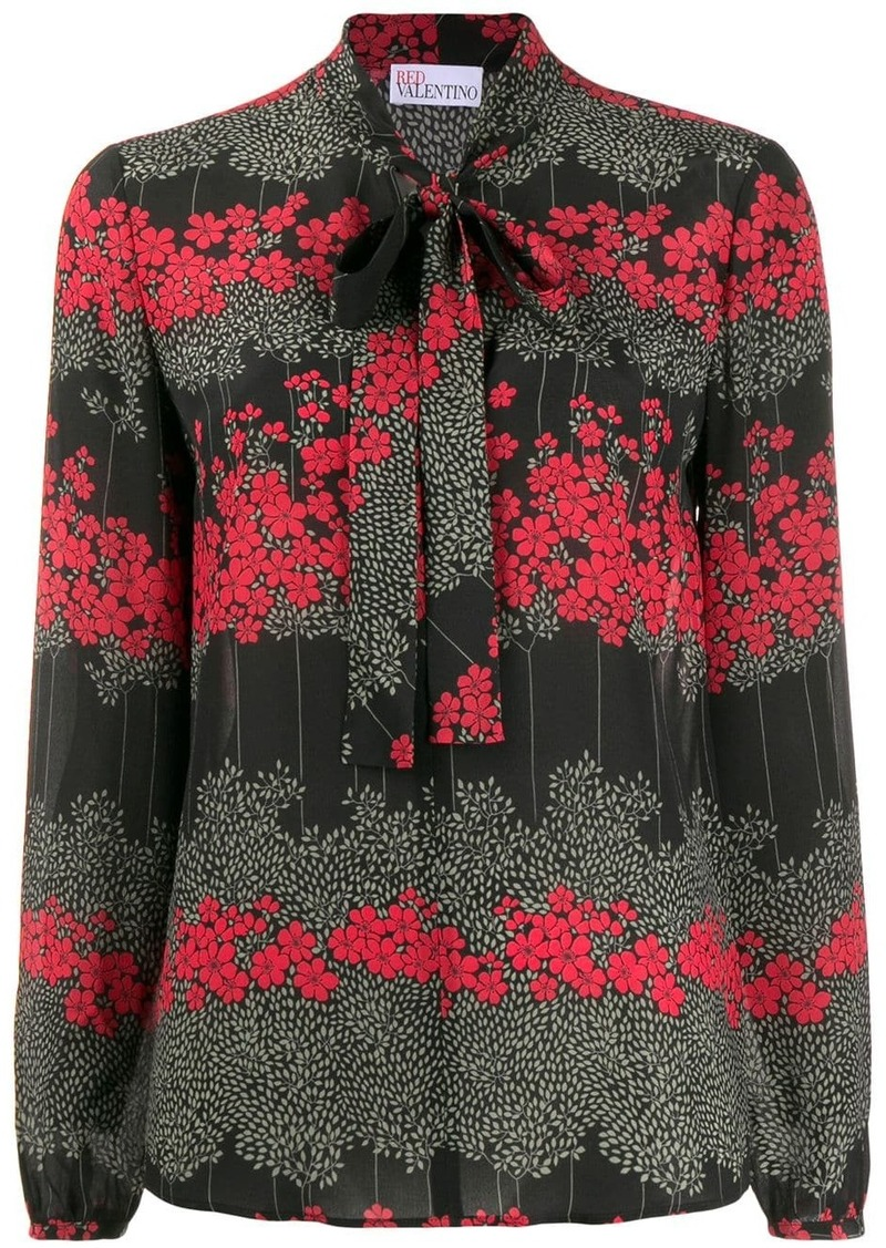 RED Valentino RED(V) floral pussy-bow blouse
