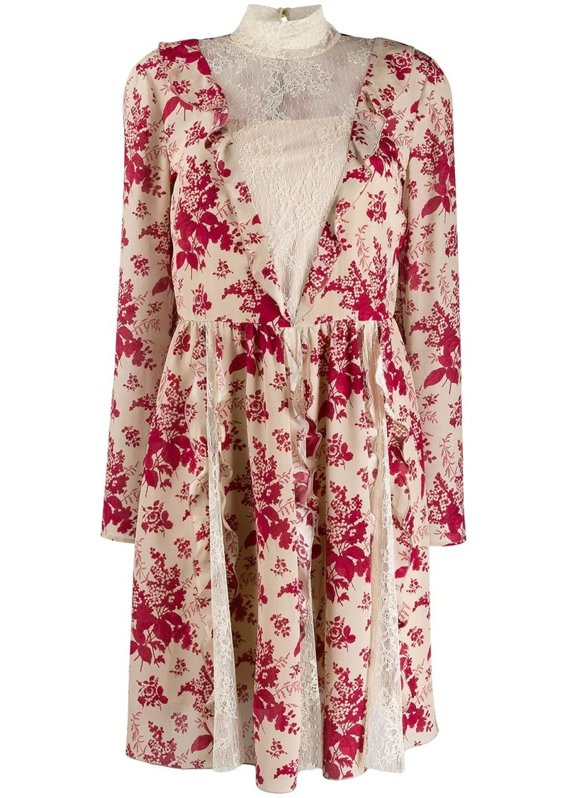 RED Valentino RED(V) floral tapestry pleated dress