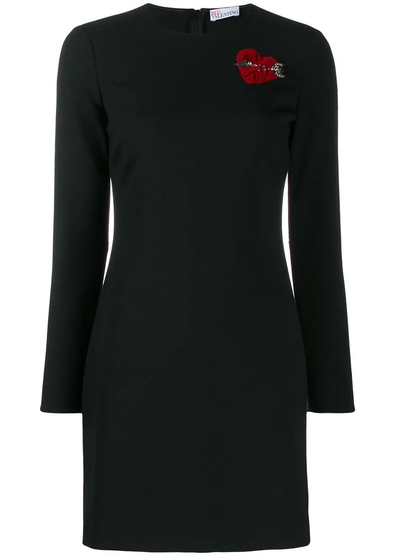 RED Valentino heart motif fitted dress