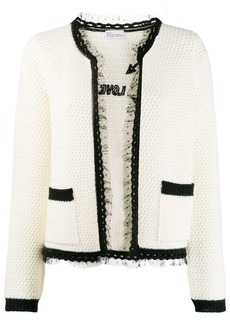 RED Valentino lace trim knitted cardigan