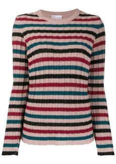 RED Valentino RED(V) metallic striped ribbed jumper
