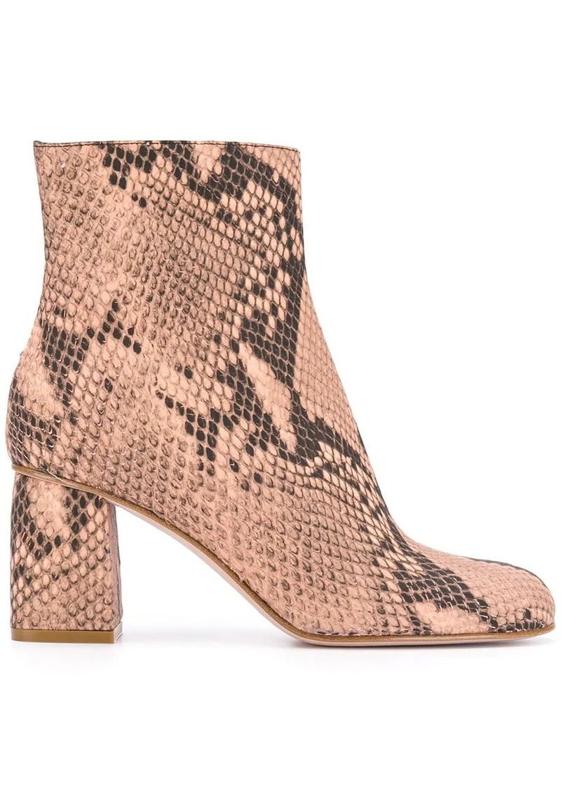 RED Valentino RED(V) snake print boots