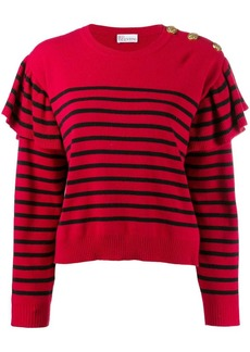 RED Valentino striped knitted jumper