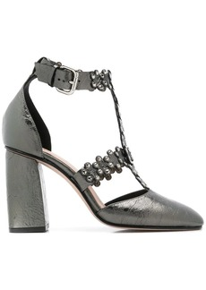 RED Valentino RED(V) studded side buckle pumps