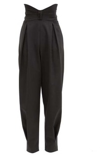 RED Valentino REDValentino Bow-waist grain de poudre slouched-leg trousers