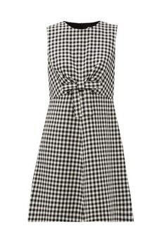 RED Valentino REDValentino Bow-waist houndstooth mini dress
