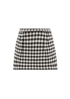 RED Valentino REDValentino Checked wool-blend skort