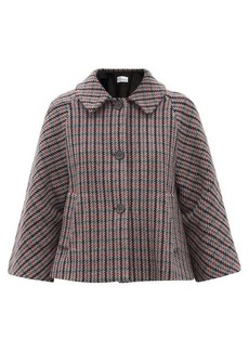 RED Valentino REDValentino Checked wool-blend swing jacket