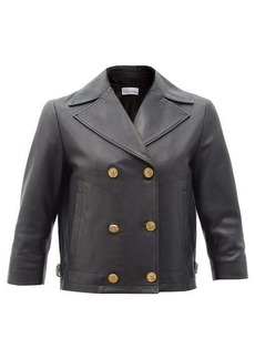 RED Valentino REDValentino Cropped double-breasted leather jacket