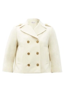 RED Valentino REDValentino Cropped double-breasted wool-blend peacoat